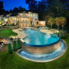 Patio That Turns Into Pool Dream Homes Pictures Dream House U0026 Pool In Cool Architecture