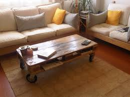 simple book on wheel table for pallet design with nice cushions on