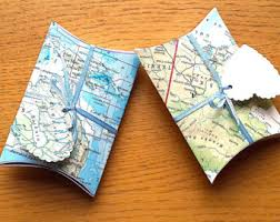 Map Favors by Travel Theme Wedding Etsy