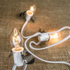 lights c7 clear bulbs 6 ft white wire warm white