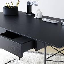 bureau noir design bureau brera chêne noir coedition déco en ligne bureaux design