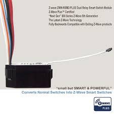 enerwave zwn rsm2 plus z wave plus switch module dual relay