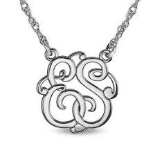 monogram necklace white gold monogram necklaces necklaces zales
