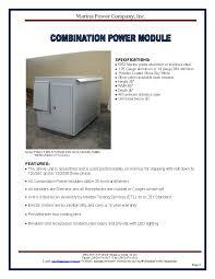marina power and lighting marina power company power modules
