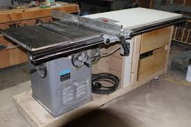 table saw mobile base shop made unisaw mobile base and extension table now with old