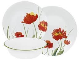 12 pc corelle kalypso dinnerware set plates bowl autumn floral