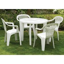 round resin patio table white plastic outdoor table and chairs brilliant plastic garden