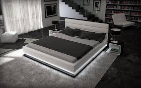 designer beleuchtung designer bett 180x200cm kunstleder weiß schwarz