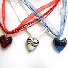 organza ribbon gorgeous organza ribbon necklace and dichroic heart custom m