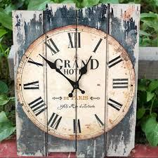 antique art wall clock wood vintage clock retro rustic home office
