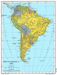 Soth America Map by Latin American Wars