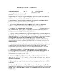 Sample Letter Of Notice Of Termination Of Employment by 50 Free Independent Contractor Agreement Forms U0026 Templates