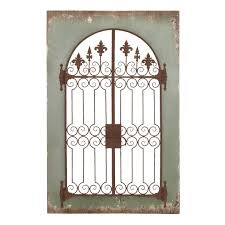 terrific gate wall decor garden gate mirror wall design design