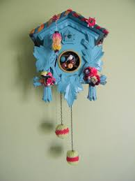 cool house clocks reclaimed cuckoo clock in pretty sky blue by bloomsburyloft