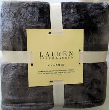 Ralph Lauren Blankets Amazon Com Ralph Lauren Luxurious Soft Micromink Throw Gray