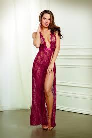 garnet lace halter gown