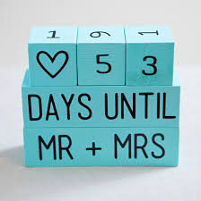 wedding countdown learn how to make your own wedding countdown blocks wedding