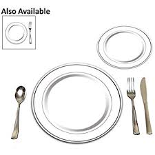 place settings 25 heavyweight plastic disposable place settings