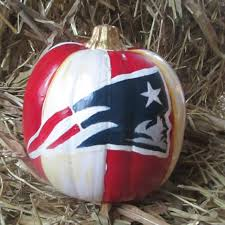 new england patriots painted pumpkins fall decoration halloween