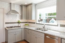 san francisco herringbone backsplash tile kitchen transitional