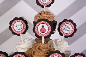 Ladybug Baby Shower Centerpieces by Items Similar To Ladybug Baby Shower Decorations Ladybug Cupcake