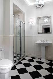 attractive art deco bathroom decoration shows fascinating shower