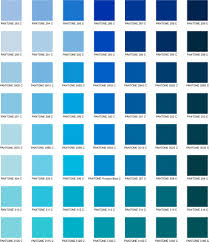 Pantone Color Names Shades Of Blue With Names Different Shades Of Blue A List With