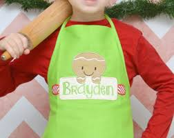 personalized christmas for kids personalized christmas apron embroidered apron kids birthday