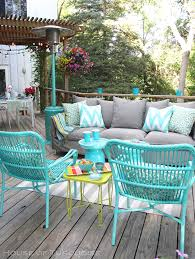 Turquoise Patio Chairs My Deck Makeover Reveal House Of Turquoise