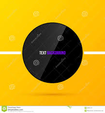 black round text frame template on bright yellow background in