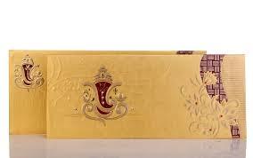 ganesh wedding invitations ganesha wedding card in bright golden maroon colour wedding