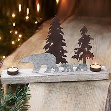 churchill polar bear tea light christmas lights u0026 candles