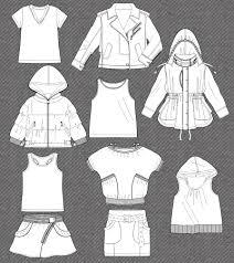 fashion flat kidsfashionvector cute vector art for kids clothes
