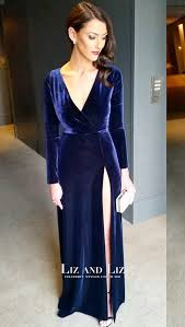velvet dress anthea pellow blue sleeve velvet dress brownlow medal 2015
