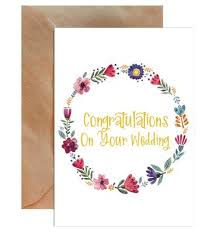 congratulations on your wedding cards wedding cards mode prints