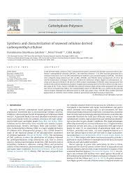 synthesis and characterization of seaweed cellulose derived