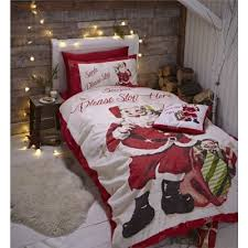 Tesco Bedding Duvet Buy Catherine Lansfield Retro Santa Christmas Duvet Cover Set