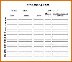 7 event sign up sheet template receipt templates