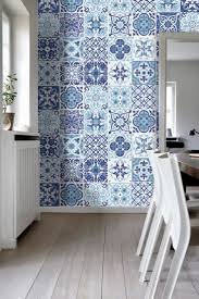 tiles art wall stickers blue portuguese pack with 48 4 x 4