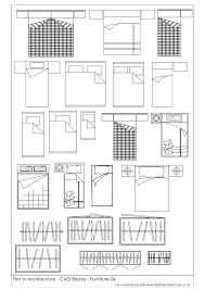 Architectural Symbols Floor Plan by Free Cad Blocks Beds And Wardrobes First In Architecture