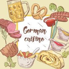 german cuisine menu german traditional food background germany cuisine