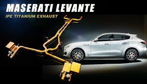 maserati gold logo innotech performance exhaust maserati levante titanium