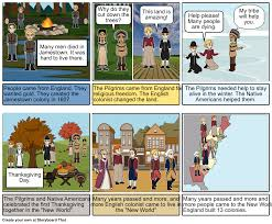 the pilgrims thanksgiving english colonies storyboard by franci e