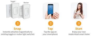 switchmate toggle smart light switch amazon com switchmate snap on instant smart light switch that