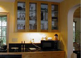 Glass Cabinets In Kitchen Kitchen Glass Cabinets Home Design Ideas