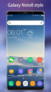 thema apk note 8 launcher galaxy note8 launcher theme apk for