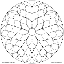 29 images of rose window template infovia net