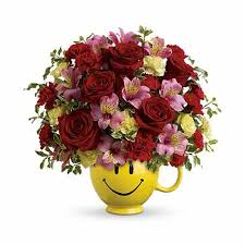 Smiley Flowers - growing happiness smiley face cup bouquet at send flowers