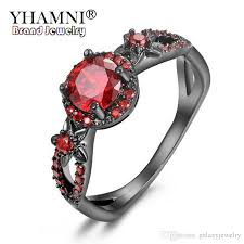 gem rings images 2018 yhamni new fashion flower shiny red gem ring red garnet women jpg