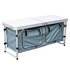 Portable Camping Kitchen Organizer - amazon com outsunny aluminum camping folding camp table with